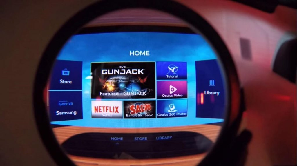 navigate to choose netflix samsung gear vr