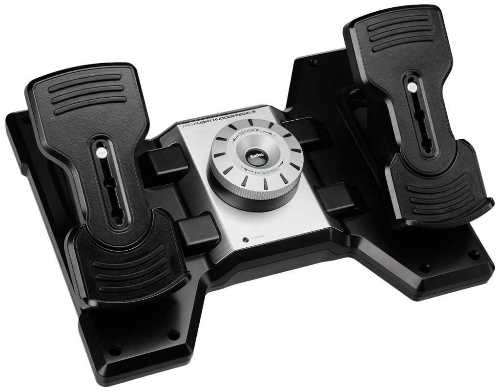 saitek pro flight rudder pedals review features