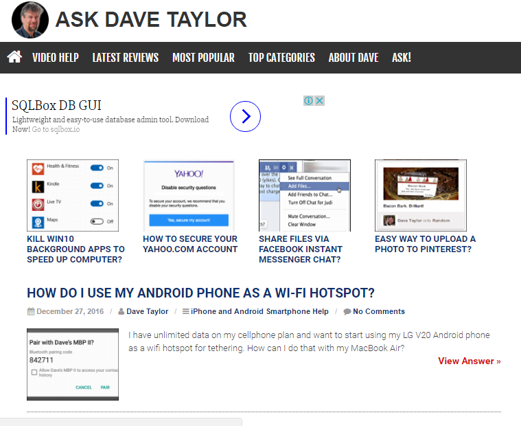 Ask Dave Taylor - Best Technology Website