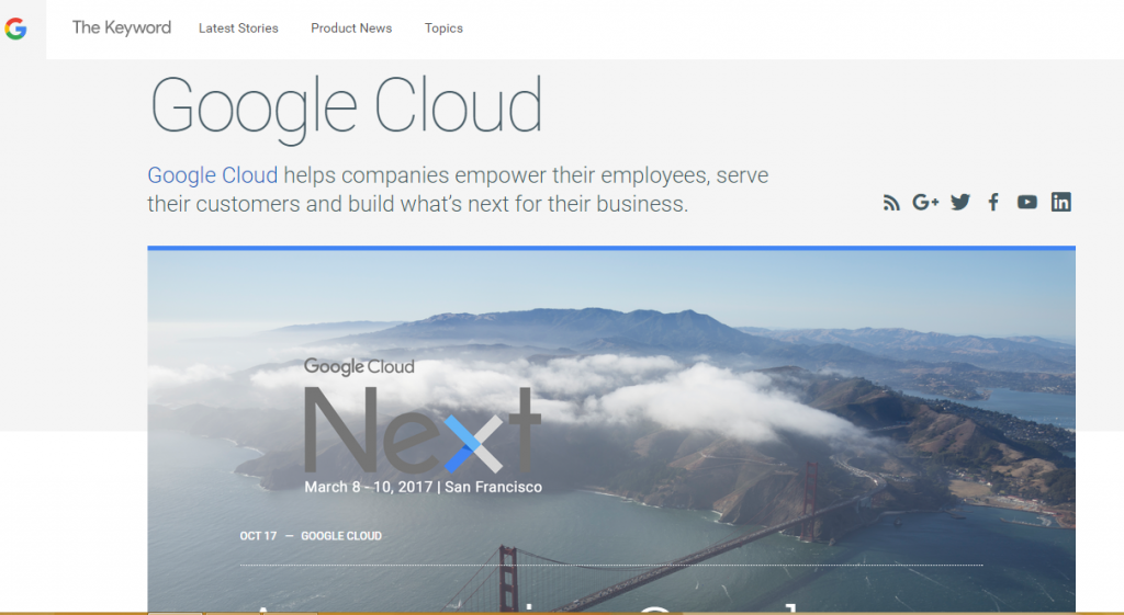 Google Cloud - Best Technology Website