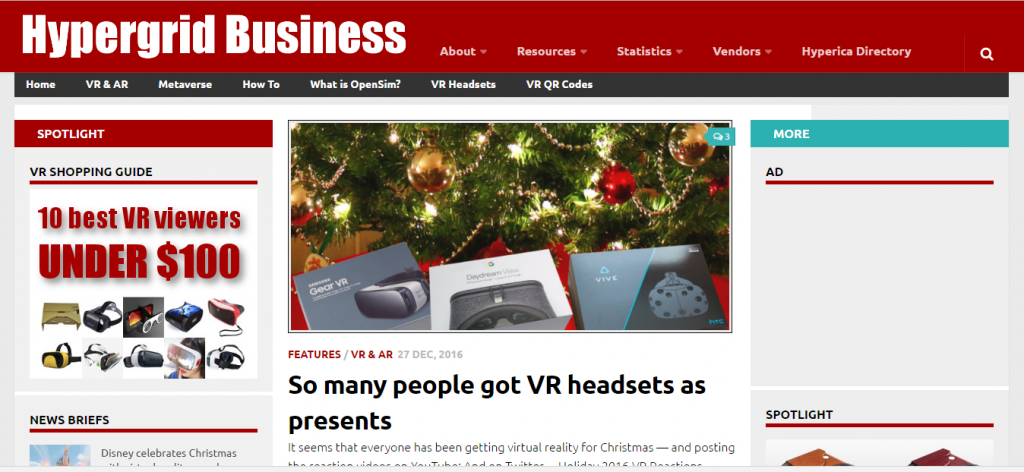 Hypergrid Business - Best Virtual Reality Website