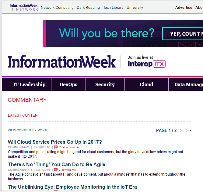 Information Week - Best Technology Website