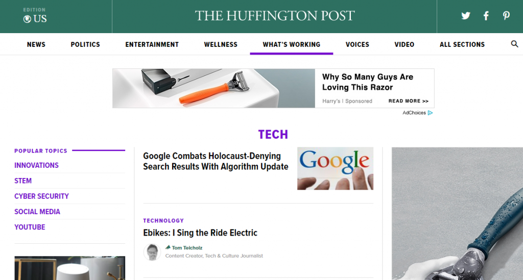 The Huffington Post - Best Technology Website