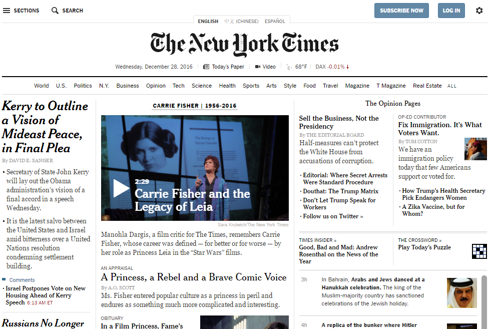The New York Times - Best Technology Website