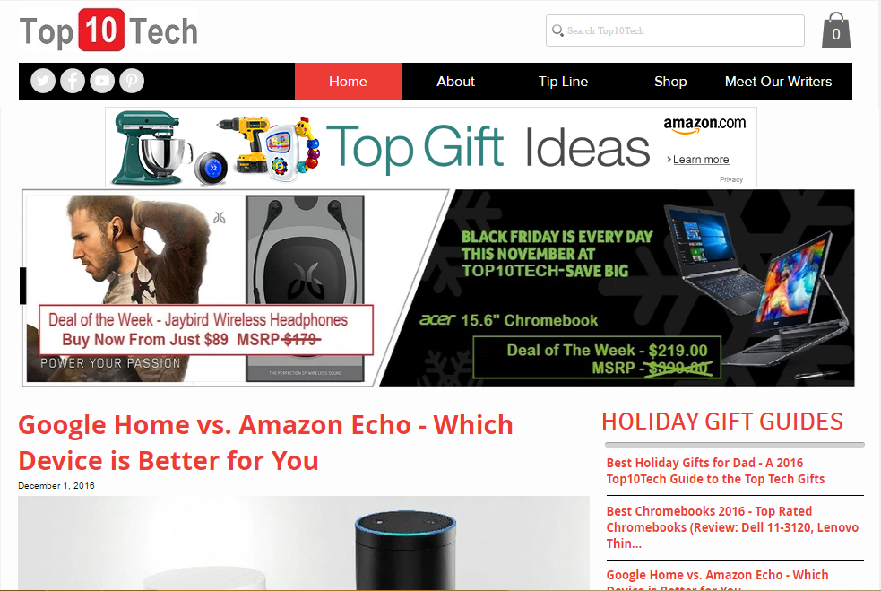 Top 10 Tech - Best Technology Website
