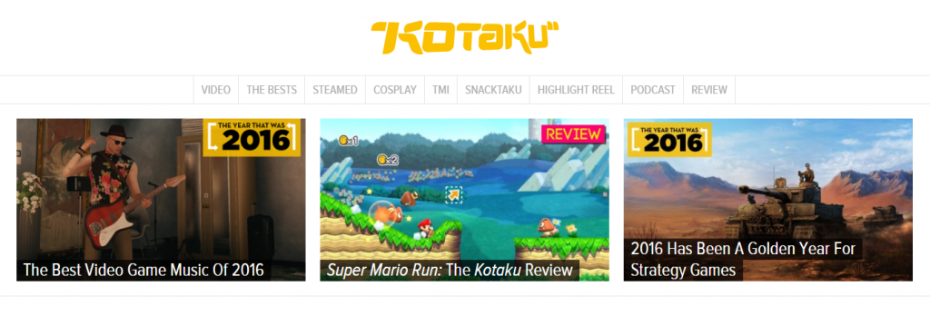 Kotaku - Best Gaming Website