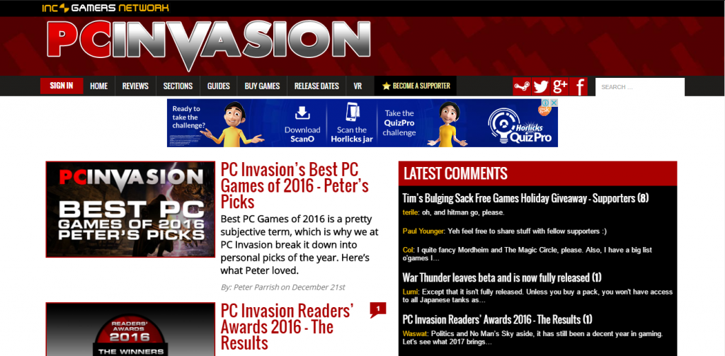 PC Invasion - Best Gaming Website