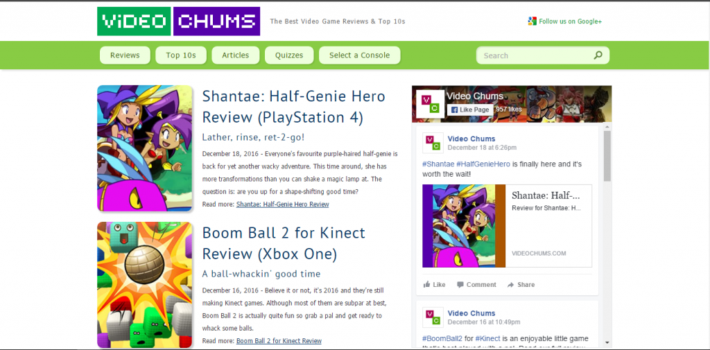 Video Chums - Best Gaming Website